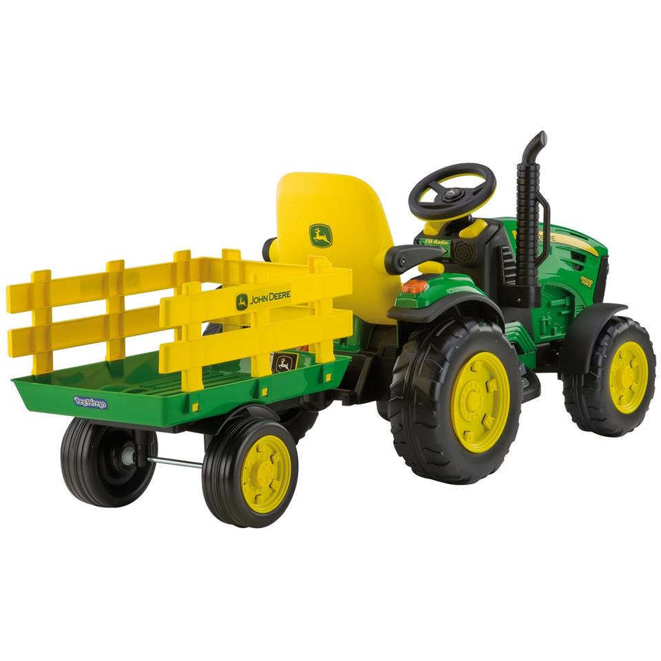 John Deere Ground Force With Trailer 12 Volt Akülü Araba